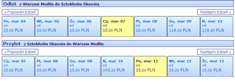 Варшава - стокгольм