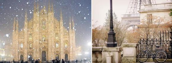 Милан и Париж