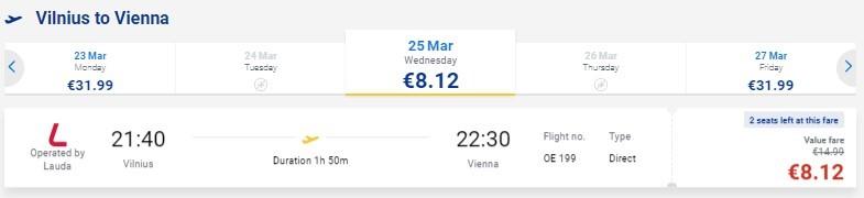 Едем и летим: из Минска в Вену всего за 16€ (зимой-весной)
