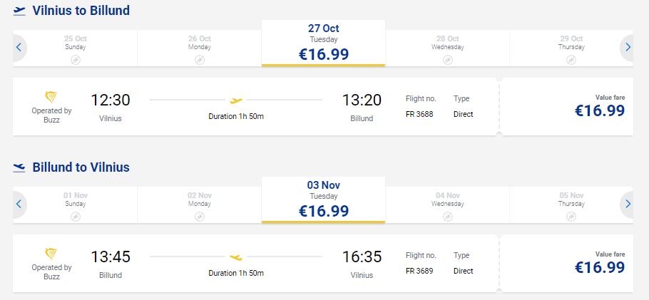 Летим в Legoland! Билеты в Данию из Вильнюса за 17€ в одну сторону или за 34€ туда-обратно.