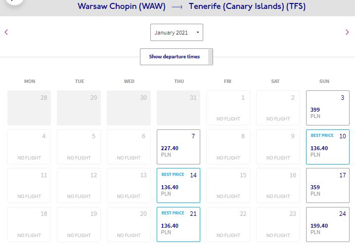Скидки у Wizz Air: летим на Канары из Варшавы всего от 30€ в одну сторону!